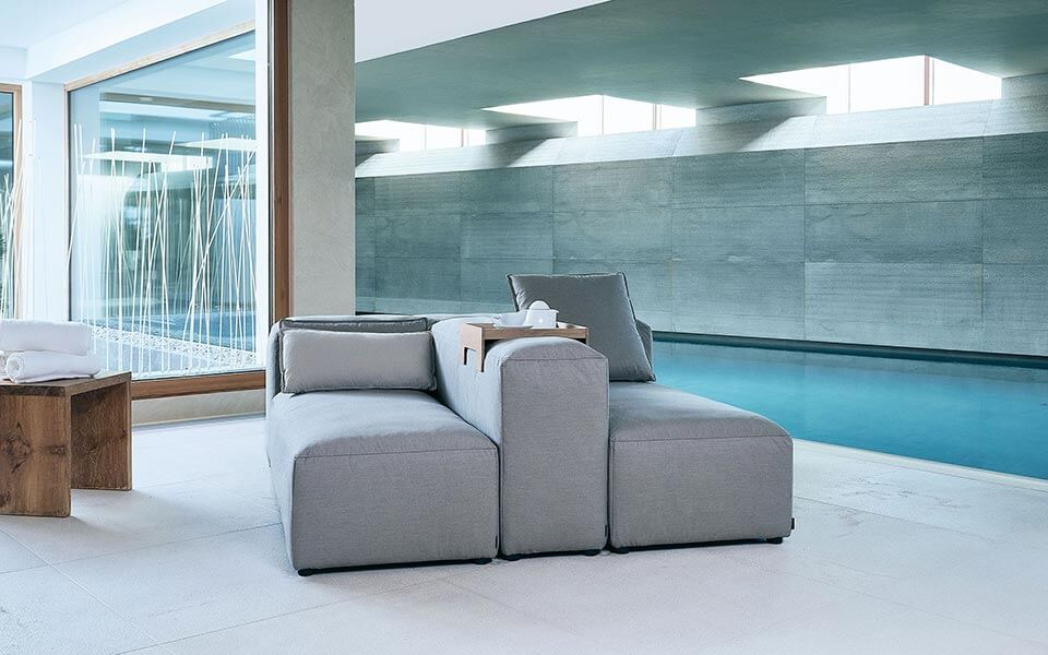 IKONO Furniture for Spa relaxation areas by KLAFS at Guncast