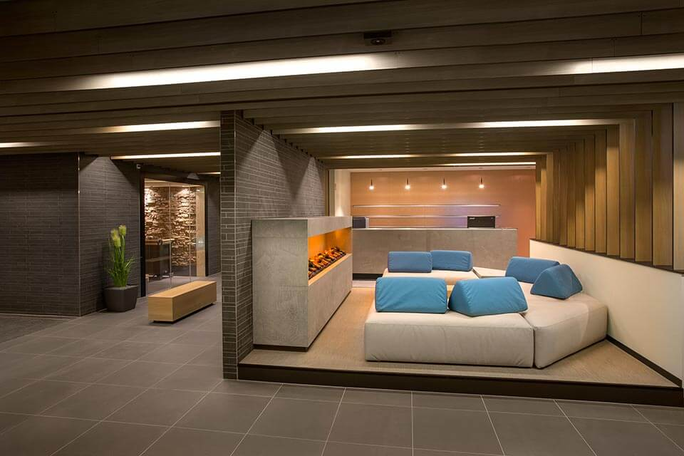 Rest and relaxation area furniture for spa