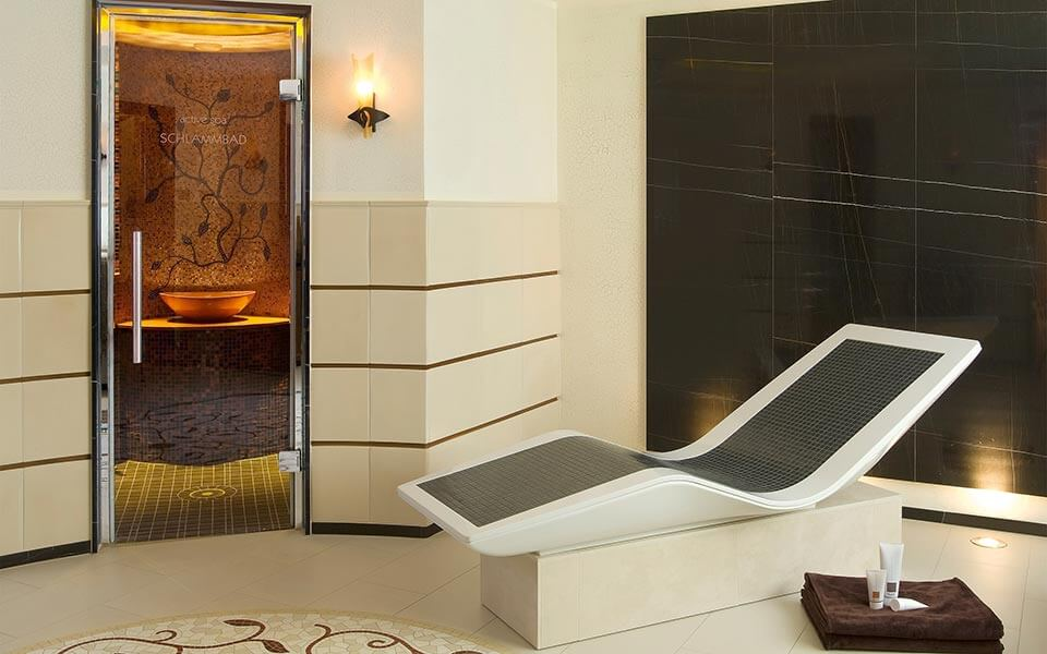 Linea heated loungers for Spa relaxation areas by KLAFS at Guncast