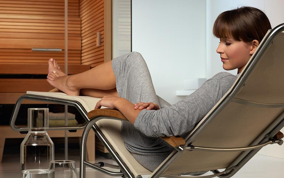 Loungers for Spa relaxation areas by KLAFS at Guncast