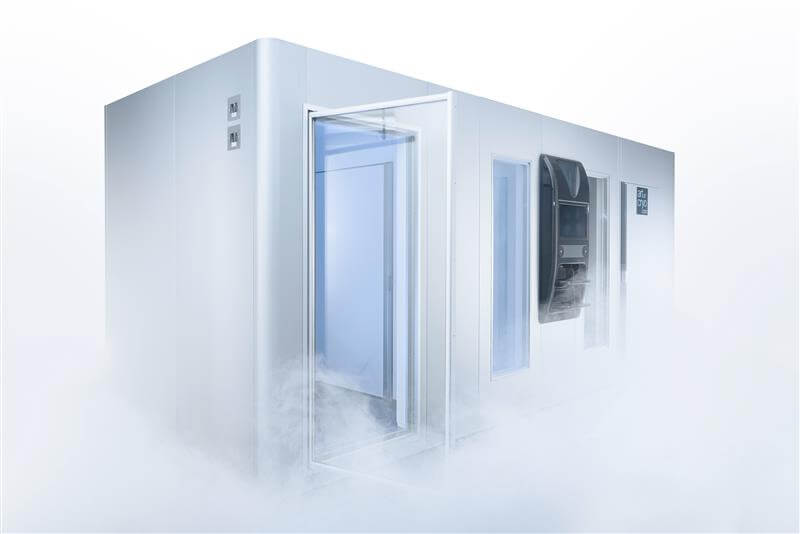 This is a much larger commercial installation KLAFS UK Cryo Lounge solution